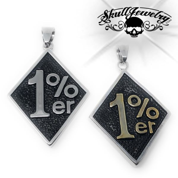 1% Stainless Steel Big & Bold Pendant