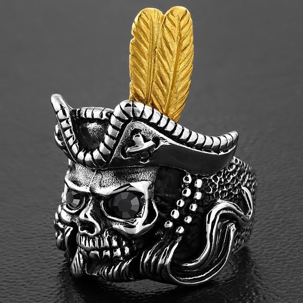 pirate ring with black eyes
