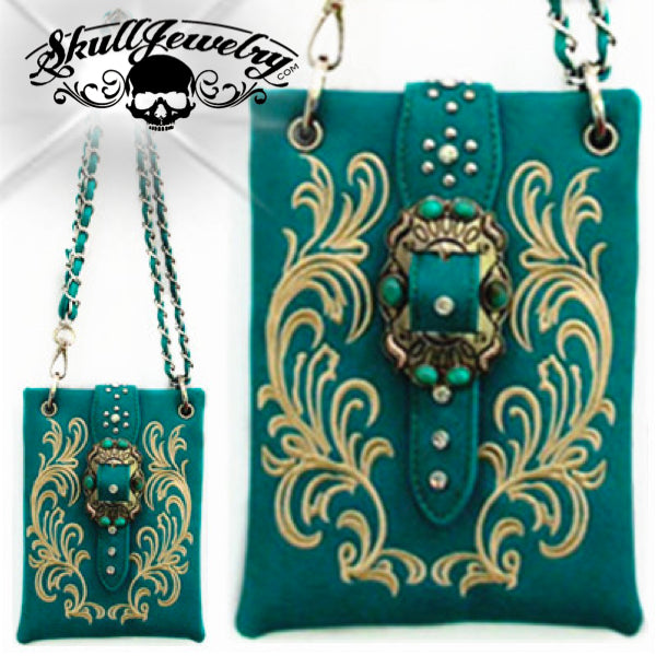 'The Most Beautiful Girl' Turquoise Stone Messenger Bag