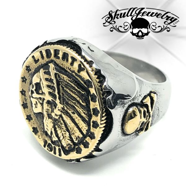 quarter eagle hobo coin ring