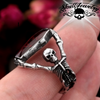skeleton Pallbearers with Coffin Ring red resin