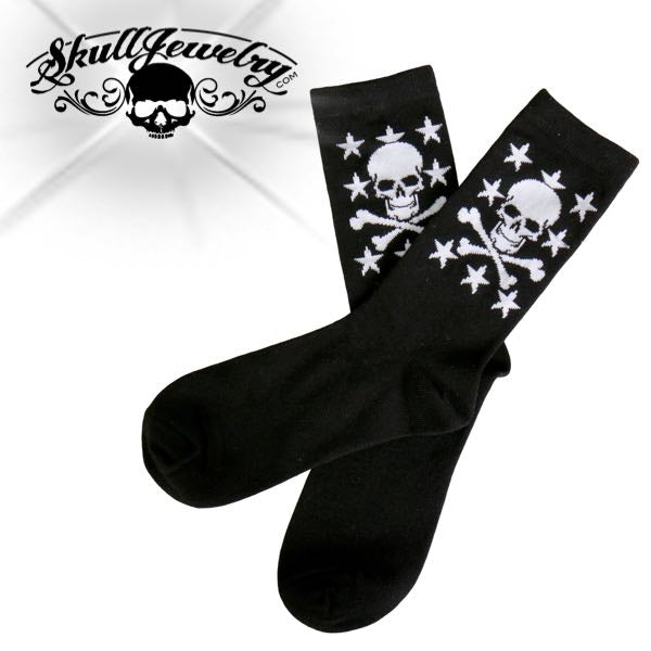 skull with stars socks