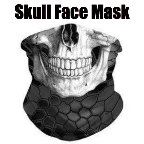 'Skull' Face Mask - 14 Different Uses  (mask043)