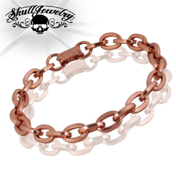 Solid Copper Link Bracelet