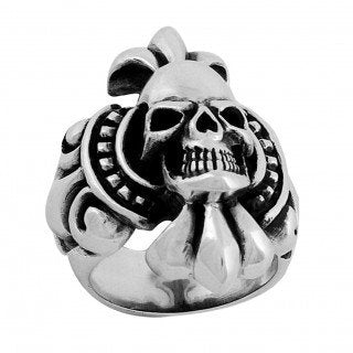 Tribal Chief -  Heavy Biker Skull Ring (042)