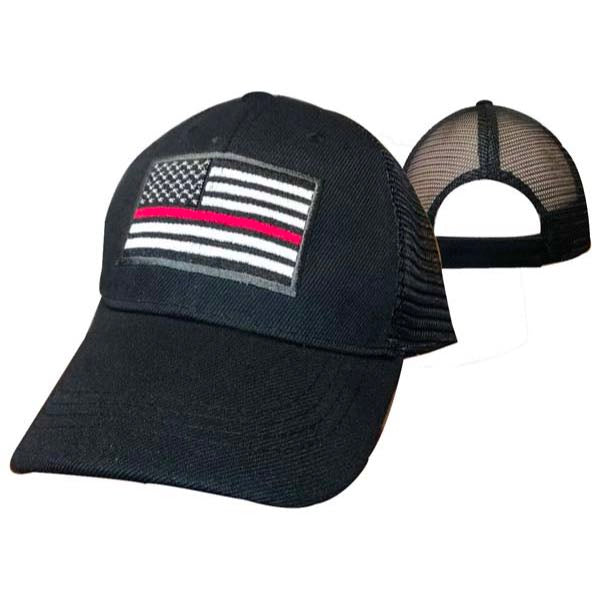 thin red line baseball cap