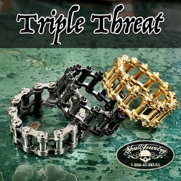 triple threat motorcycle chain ring