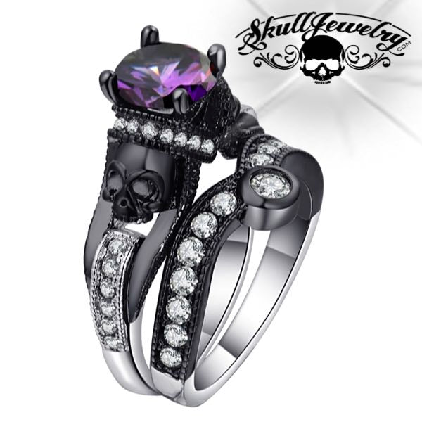 'Due Teschi' Double Skull Ring (w035)