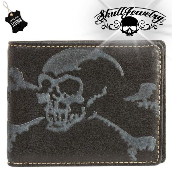 Skull & Bones Genuine Leather Wallet