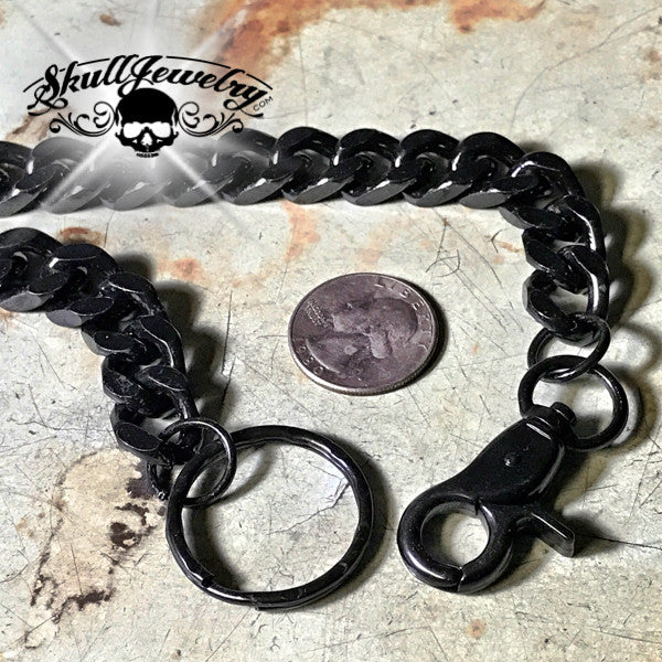 Big, Bold & Heavy Black Wallet Chain