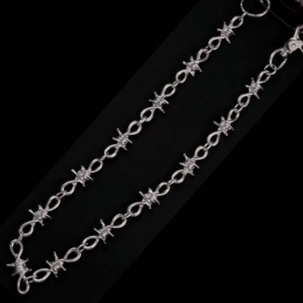 Chromed Barb Wire Wallet Chain