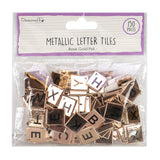 Metallic Rose Gold Scrabble Letter Tiles (150 Tiles)