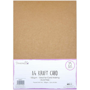 Thin A4 Kraft Card 25 Sheets