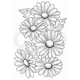 Five Daisies Clear Stamp Set