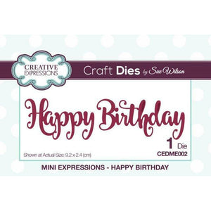 Happy Birthday Mini Expressions Craft Dies