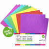 Rainbow Double-Sided 12 x 12 Glitter Card Pack