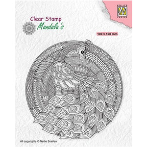 Peacock Mandala Stamp