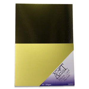 Gold Mirror Gloss & Satin Card Pack