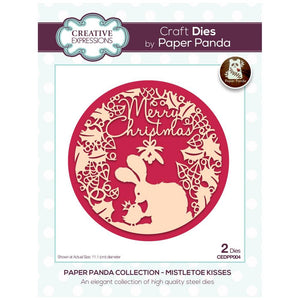 Mistletoe Kisses Paper Panda Die Set