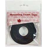 Black Mounting Foam Tape 2mm x 12mm
