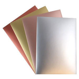A4 Smooth Metallic Card Pack