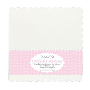 Scallop White 6x6