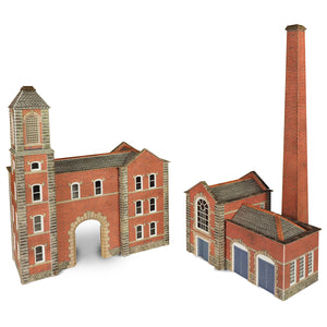 Boiler House & Factory Entrance N Gauge Card Kit