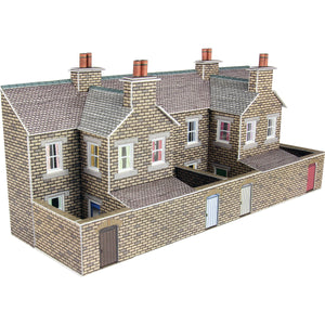Low Relief Stone Terraced House Backs N Gauge Card Kit