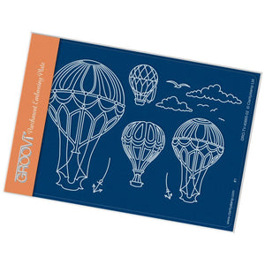 Ballooning A6 Groovi Parchment Embossing Plate-GRO-TV-40665-02-Claritystamp