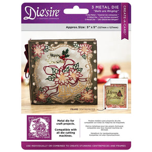Bells are Ringing Christmas Die'Sire Create a Card Die Set-DS-CADX-RIN-Crafters Companion