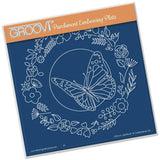 Butterfly Wreath Groovi Parchment Embossing Plate A5