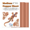 Medium Copper Sheets 0.12mm Pack of 2