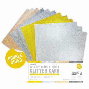 Metallics Double-Sided 12 x 12 Glitter Card Pack