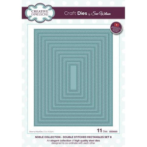 Double Stitched Rectangles Set B Noble Collection Die Set-CED5525-Creative Expressions