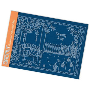Linda's Garden Swing Parchment Embossing Plate