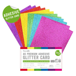 A5 Mixed Colour Adhesive Glitter Card