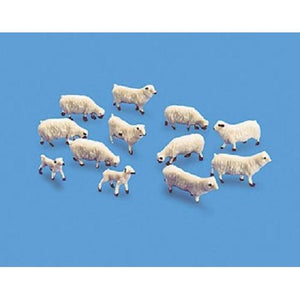 OO Gauge Sheep & Lambs Plastic Figures-5110-Modelscene