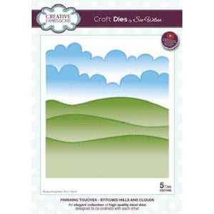 Stitched Hills and Clouds Craft Dies-CED1495-Creative Expressions