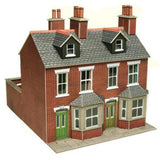 Terraced Houses In Red Brick OO Gauge Card Kit