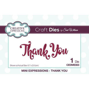 Thank You Mini Expressions Craft Dies-CEDME003-Creative Expressions