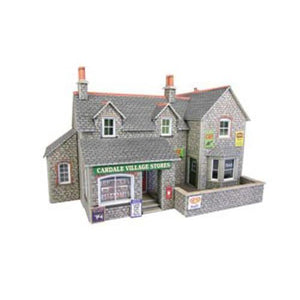 Village Shop & Cafe OO Gauge Card Kit-PO254-Metcalfe