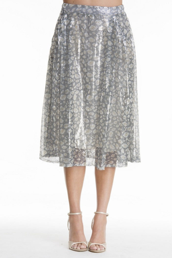 SEQUIN EMBROIDERED TULLE SKIRT - VEREL