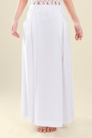 LONG SKIRT IN OXFORD COTTON - VEREL