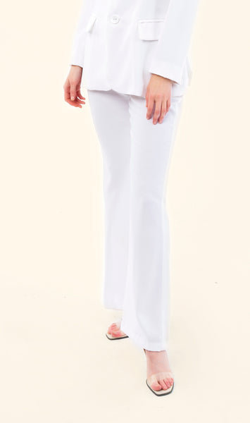 STRAIGHT CREPPE TROUSERS - VEREL