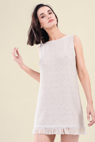 KNITTED COTTON DRESS - VEREL