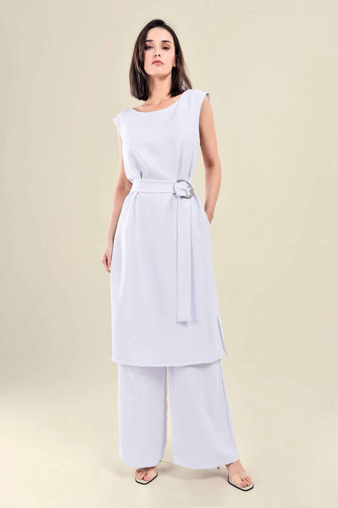 MAXI TOP CREPPE AND TROUSERS SET - VEREL