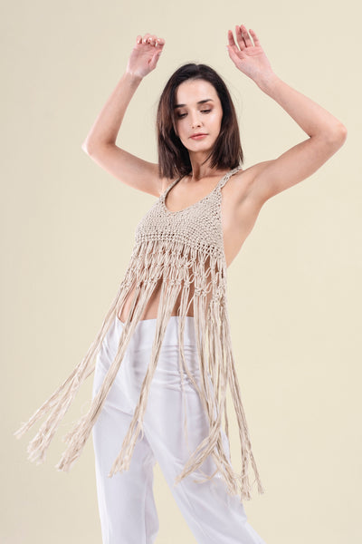 MACRAME COTTON TOP - VEREL