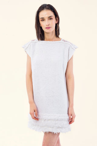 LOOM KNITTED COTTON DRESS - VEREL