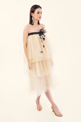 TULLE AND LACE DRESS - VEREL