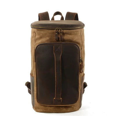 Leather Backpack Rucksack Herren